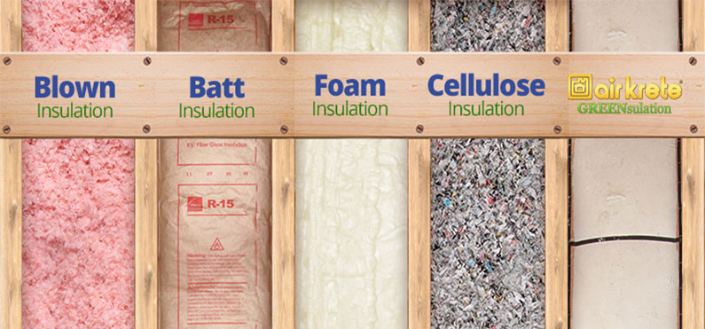 Insulation cool component for Blown in insulation vs batts